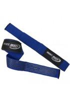 Лямки для тяги тканевые с противоскользящим покрытием синие