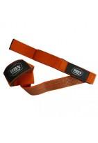 Лямки для тяги тканевые с противоскользящим покрытием оранжевые