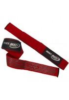 Лямки для тяги тканевые с противоскользящим покрытием красные