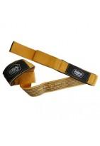 Лямки для тяги тканевые с противоскользящим покрытием желтые