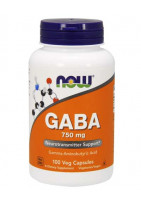 NOW, GABA 750mg 100 vcaps