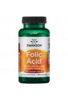 SWANSON Folic Acid 800 mcg (1335 mcg dfe) 250 caps